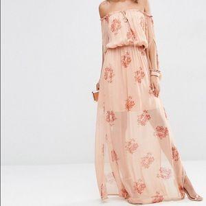 ASOS Tall Off Shoulder Maxi Dress